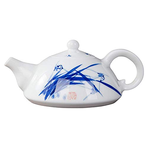 MSH Chinese theepot nieuwe Delton kleur bloem porselein, geschenkdoos in hoed doos Moederdag, verjaardagscadeau