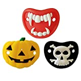 Soul hill 3pcs Halloween Lustiger Schnuller Kürbis Schädel Vampir Silikon-Nippel Teetth Prank Gag Tricky Toy Spoof Stütze for Maskerade-Kostüm Cosplay zcaqtajro