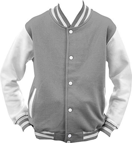 ShirtInstyle College Jacke Jacket Retro Style, Grau, S