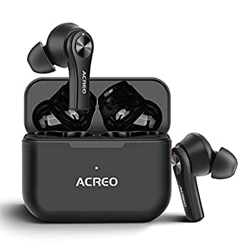 Wireless Earbuds ACREO AirBuds,【2021 Launched】,Bluetooth TWS Earbuds with 24 Hours Playtime More Compact Wireless Earbuds for Android and iPone,IPX7 Rating Waterproof Earbuds