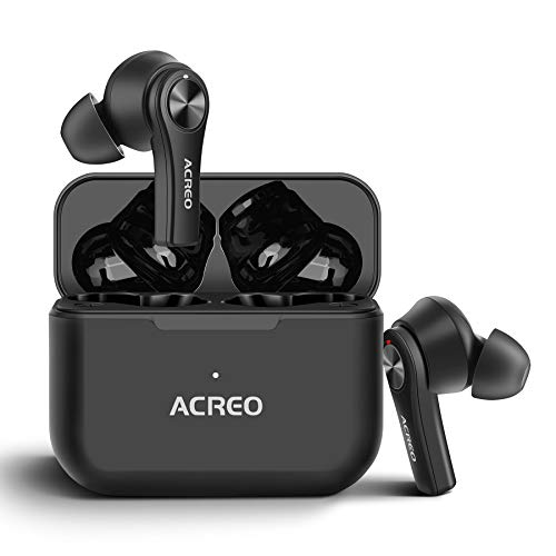 Wireless Earbuds, ACREO AirBuds,【2021 Launched】,Bluetooth TWS Earbuds with 24 Hours Playtime, More Compact Wireless Earbuds for Android and iPone,IPX7 Rating Waterproof Earbuds