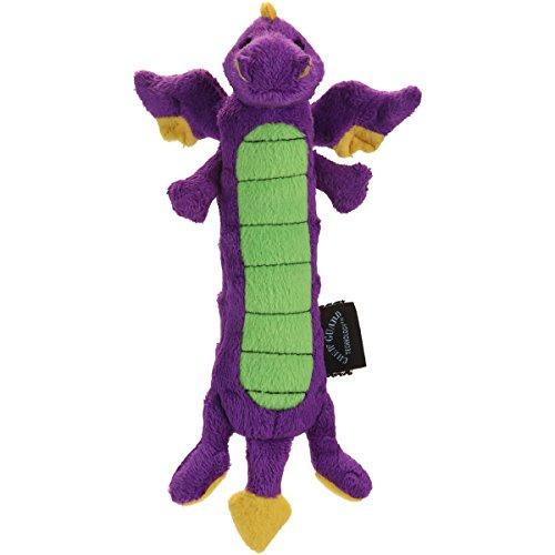 Moonmoon goDog Jouet Dragon avec Protection Anti-Mastication Violet Taille L