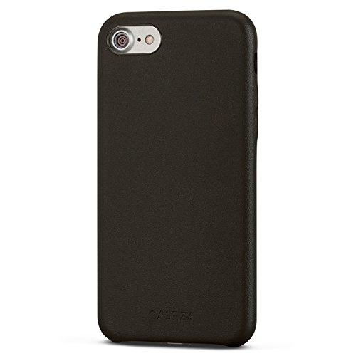 Cover iPhone SE 2020 / iPhone 8 / iPhone 7 Nera - CASEZA'Rome' Case in Pelle PU Nero Custodia Posteriore Pelle Vegana per Apple iPhone SE 2020 & 8 & 7 (4.7') Originale