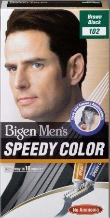 Bigen Speedy Haarfarbe für Herren, Ammoniakfrei, Braun / Schwarz, 102