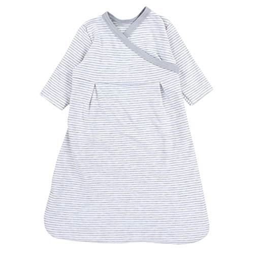 TupTam Baby Unisex Langarm Innenschlafsack, Farbe: Streifenmuster Grau/Melange, Größe: 62/68