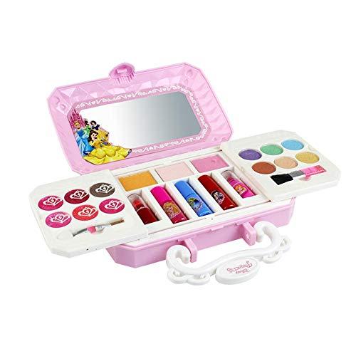 Adminitto88 Kits De Maquillaje De Princesa Niña Maquillaje Lindo Jugar Juguete, 23pcs Nuevo Lindo Portátil Disney Cosméticos Conjunto Juguete, Juguete Jugar Casa Niños Regalo