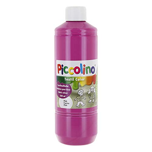 Textilfarbe pink 500ml - Stoffmalfarbe PICCOLINO Textil Color