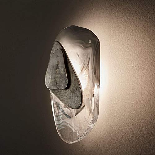 WHSS Luces de pared gris Postmodern Creative Sala de estar Lámpara de...