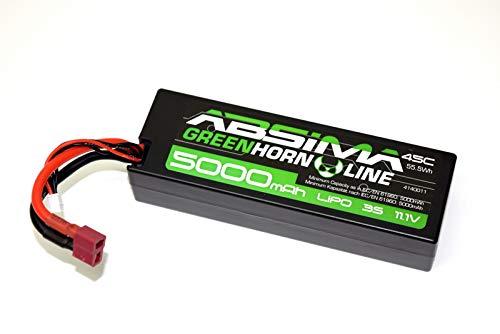 Absima 4140011 4140011-Absima Car/RC Auto LiPo Stick Akku-Pack 11.1V-45C 5000 Hardcase (T-Plug), Mehrfarbig