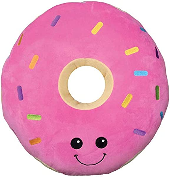 Iscream Vanilla Scented Kawaii Darling Donut Embroidered Accent 15 X 15 Fleece Pillow