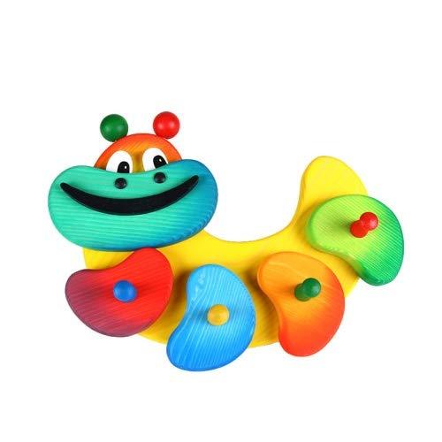 Brink Holzspielzeug Garderobe Kleine Raupe farbenfrohe Kindergarderobe mit 4 Haken
