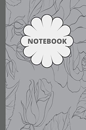 Floral Grey Wallpaper Notebook: A Cute flowery keepsake blank wide-ruled lined journal ideal for journaling, writing, notetaking, doodling or keeping ... for someone special or treat yourself.