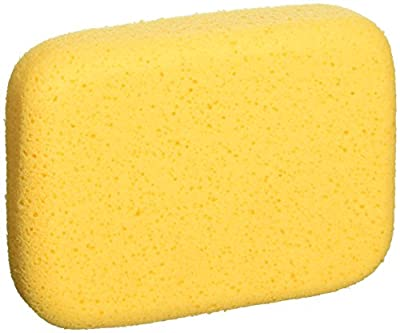 QEP 70005Q-6D 7.5 Inch x 5.5 Inch x 1.875 Inch Grouting, Cleaning and Washing Sponge, X-Large, 6-Pack, 6 Pack, Yellow