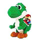BBHH Mario Series Figura 3D Modelo Micro Bloques Niños Educativa Educativa Estrés Relevante Toys Regalos para Niños Adultos,Yoshi Dinosaur