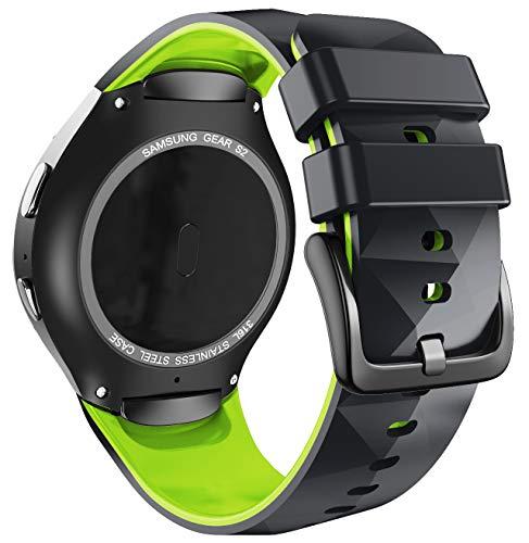 ANBEST Cinturino in Silicone Compatibile con Samsung Gear S2 Sport Cinturino per Gear S2 SM-R720/SM-R730 Smart Watch