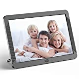 Digital Picture Frame 8 Inch HD 1280X800P with Remote Control, Digital Photo Frame 16:9 IPS Display Auto Slideshow Zoom Image Stereo Video Music Player Support USB SD Card 180° View Angle (Black)