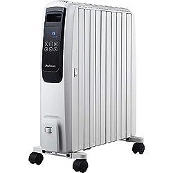 Pro Breeze 2500W Ölradiator mit digitalem Display - elektrischer, energiesparender Heizkörper mit 10 Rippen, Timer, 4 Heizstufen, Thermostat, Fernbedienung, Sicherheitsabschaltfunktion