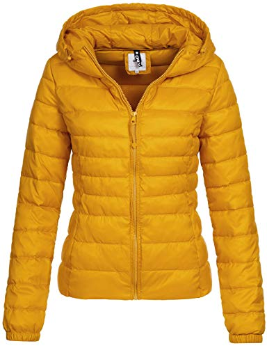 ONLY Damen Übergangs-Steppjacke Tahoe Hood Kapuze golden Yellow XS