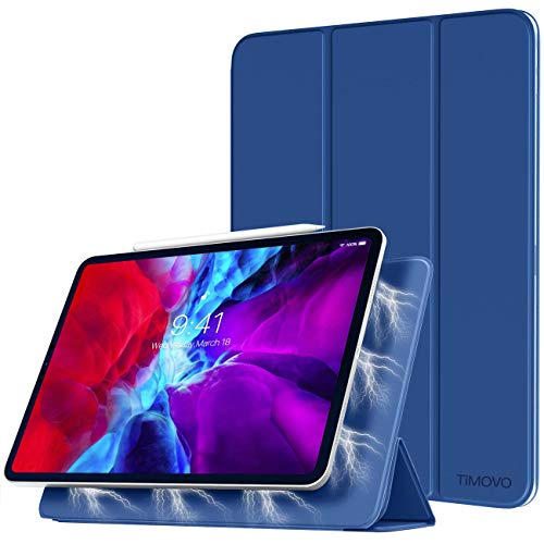TiMOVO Case for New iPad Pro 12.9 Inch 2020 (4th Generation), Strong Magnetic Trifold Stand Case Cover with Auto Sleep/Wake Fit iPad Pro 12.9