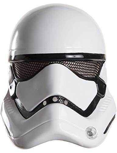 KULTFAKTOR GmbH Stormtrooper-Maske Star Wars Lizenzartikel Weiss-schwarz Einheitsgröße