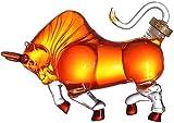 Juego de Jarras y Vasos de Whisky Personalidad Whiskey Jarra del Vino del Licor Bull Estilo 1000ml Animal Gift Jarra Alta de borosilicato de Plomo Libre de Cristal
