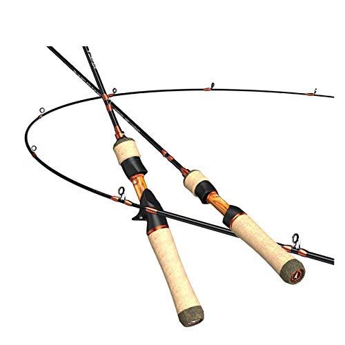 Noctiflorous Ködersystem Ul Spinning Casting Angelrute Kohlefaser 2 Stück 1,53-1,68m 1-8g for Forellenfischen (Length : Casting (1.80m UL))