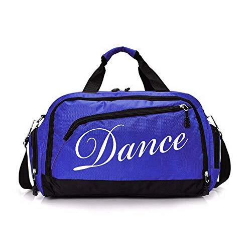 Ballet Duffle Bag For Women Girls Gymnastics,Weekend Bag,Overnight Bag Short Trips (Blue dance)