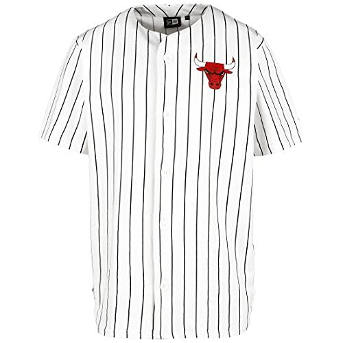 New Era NBA Chicago Bulls Pinstripe - Camiseta para hombre, color blanco/negro, XXL