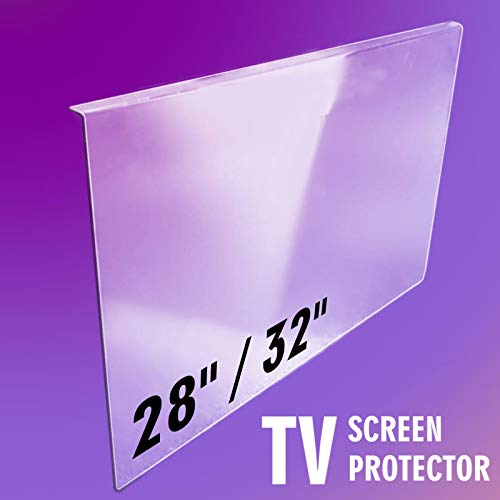 28' / 32' inch ULTIMA CLEAR TV Screen Protector for LCD, LED, OLED & QLED HDTV (73cm x 43cm (width x height))