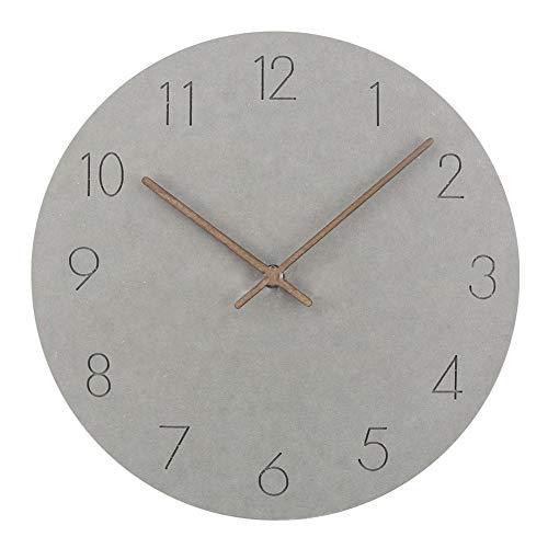 Somedays 29cm Wanduhr Modische und einfache hölzerne Wanduhr nordischen Stil Wohnzimmer Uhr