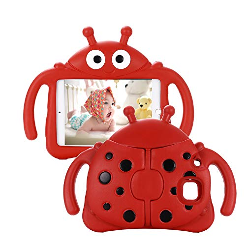 Tading Kids Case for Samsung Galaxy Tab A 7.0, Children Friendly Lightweight and Shockproof EVA Foam Full Protection Stand Cover for SM T280 T285 (Not Fit Galaxy Tab A 10.1/9.7/8.0) –Ladybug/Red