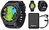 SkyCaddie LX5 GPS Watch Power Bundle | +PlayBetter Portable Charger | 35,000 Maps, IntelliGreen & Pinpoint Technology | Golf Smartwatch
