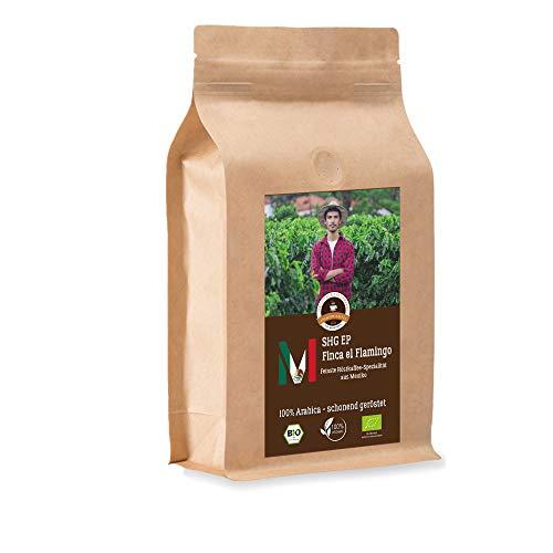 Kaffee Globetrotter - Bio Mexico Finca El Flamingo- 500 g Fein Gemahlen - für Espressokocher, Espressomaschine - Spitzenkaffee - Röstkaffee aus biologischem Anbau