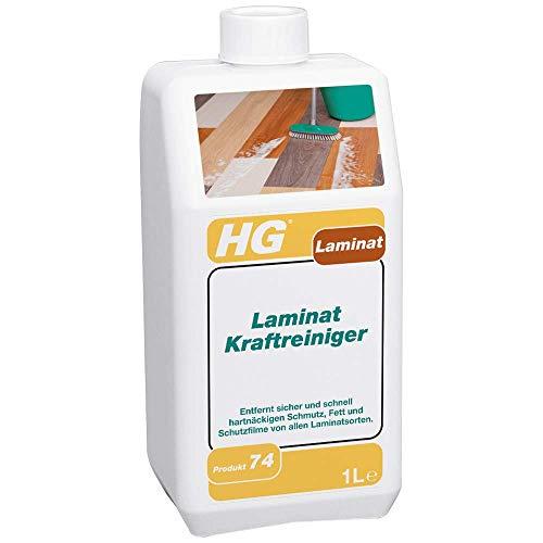 HG Laminat Kraftreiniger 2er pack (2x 1L) – Leistungsstarkes Laminat Putzmittel - Zur Entfernung von Hartnäckigem Schmutz und Fett