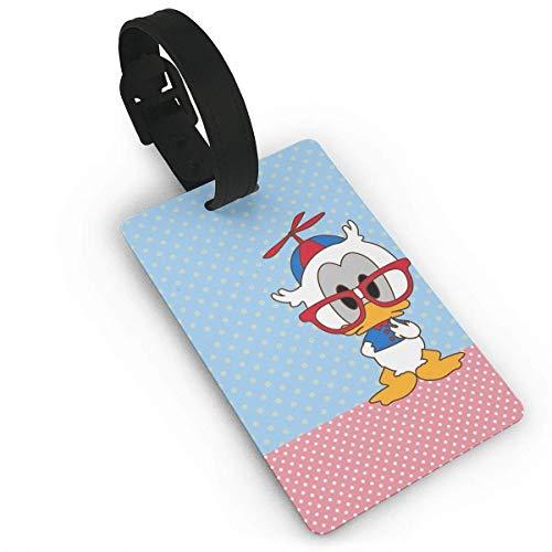 Etiquetas de equipaje Etiquetas de maletas de bebé del pato Donald Etiqueta de bolsa Identificador de identificación de viaje Etiqueta de equipaje