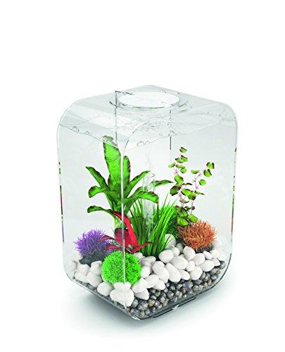OASE biOrb LIFE 15 LED Aquarium, 15 Liter - Aquarien Komplett-Set mit LED Beleuchtung und patentiertem Filter-System, Acryl-Becken in Weiß