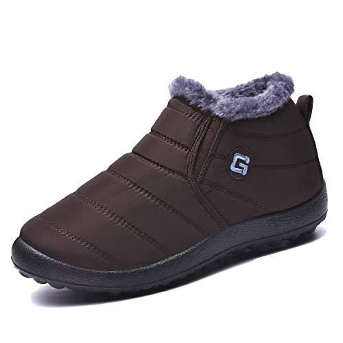 Ginjang Women Winter Snow Boots Warm Ankle Boots Anti-Slip Waterproof Winter Shoes Slip On Booties...
