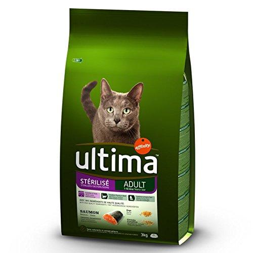 Ultima - Esterilizado para adulto - Salmón & Barley 7,5 kg Un alimento saludable para gatos