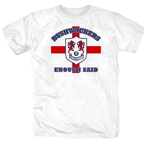 pro-Camicia Millwall Bushwackers Weiß T-Shirt, Weiß Large