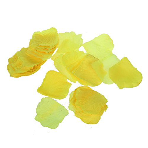 1000pcs Yellow Silk Rose Petals Artificial Flower Wedding Favor Bridal Shower Aisle Vase Decor Confetti