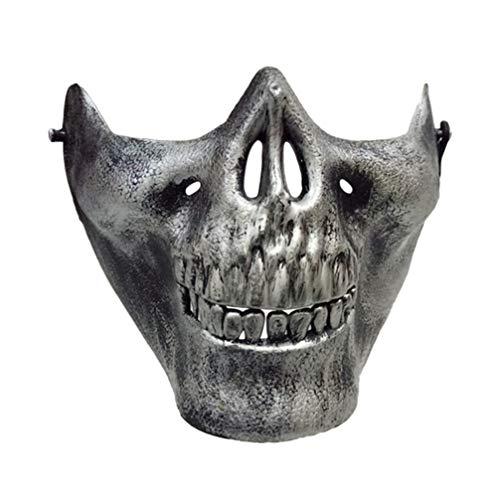 Holibanna schädel Skelett Maske Halloween Kunststoff dekorative gruselige Gesichtsmaske Maskerade Party Requisiten