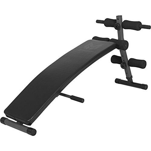 GYRONETICS® Bauchtrainer mit Beinfixierung Schwarz – Sit-Up-Bank verstellbar und klappbar