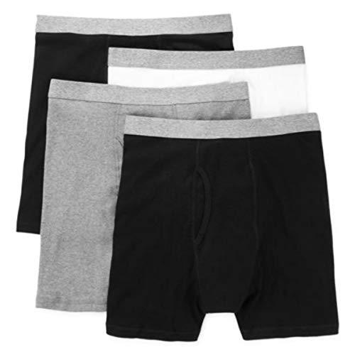Stafford 4 Pack Boxer Briefs - Big & Tall Black Grey (2X-Large)
