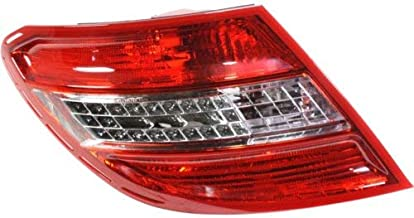 Tail Light for Mercedes Benz C-Class 08-11 Lens and Housing w/Curve Lightning LED USA Type Left Side