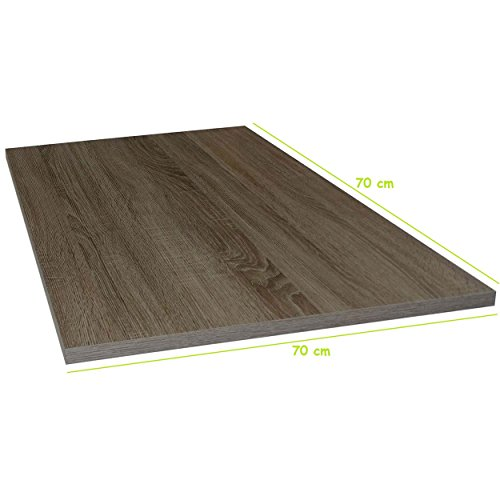 Tischplatte aus Holz für Schreibtische - Holzplatte perfekt geeignet für Schreibtisch, Couchtisch/Esstisch - Verschiedene Größen & Farben (70x70cm, Trüffel Eiche)