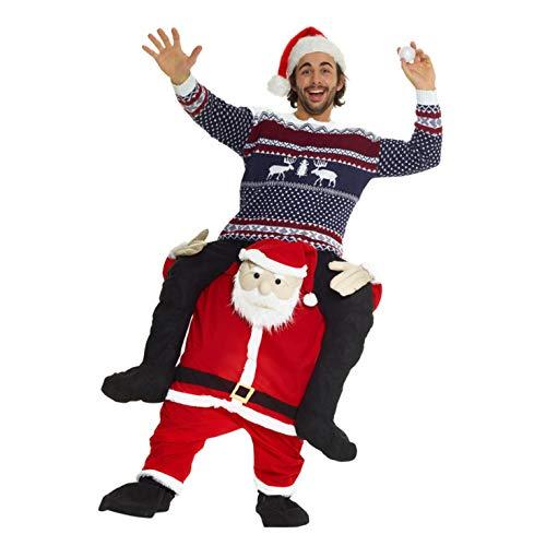 Morph Costume divertente con le gambe autogonfiabili, Unisex, Babbo Natale, Taglia unica