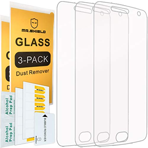 [3-PACK]- Mr.Shield Designed For Motorola Moto G5 Plus/Moto G Plus (5th Generation) [Tempered Glass] Screen Protector [0.3mm Ultra Thin 9H Hardness 2.5D Round Edge] with Lifetime Replacement
