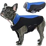 Hjyokuso Abrigo de Perro Impermeable a Prueba de Viento Chaqueta Caliente para Mascotas al Aire Libre, Cachorro Ajustable Ropa fría Invierno para Perros pequeños, medianos y Grandes (Azul XL)