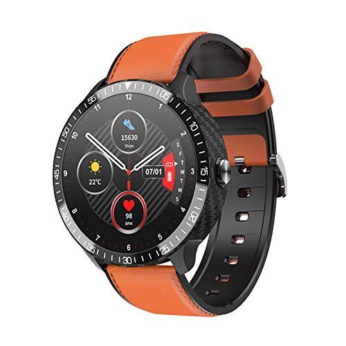 QAZPL Reloj Elegante, 1,28 Pulgadas de Pantalla, rastreador de Ejercicios, Pulsera de los Deportes del podómetro, marcación de Bricolaje, Llamada Bluetooth/cámara/música, Mensaje Push, Inteligente