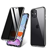 ZHIKE iPhone 11 Hülle, Anti-Peep Magnetic Adsorption Hülle Vorne und Hinten Gehärtetes Glas...